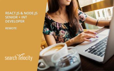 NodeJS / ReactJS Developers | REMOTE